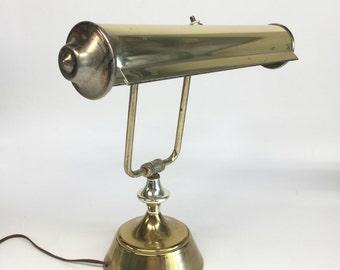 Vintage Lamp, Brass Piano Lamp, Vintage Piano Lamp, Vintage Lamps, Brass Desk Lamp, Banker's Lamp