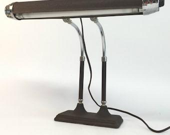 Vintage Lamp, Piano Lamp, Vintage Piano Lamp, Vintage Lamps, Industrial Desk Lamp, Banker's Desk Lamp, Antique Desk Lamp
