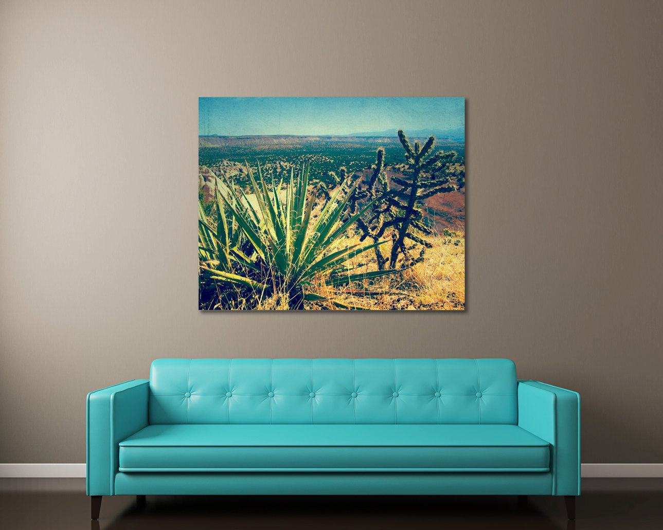Cactus art southwestern wall art new mexico landscape zoom amipublicfo Choice Image
