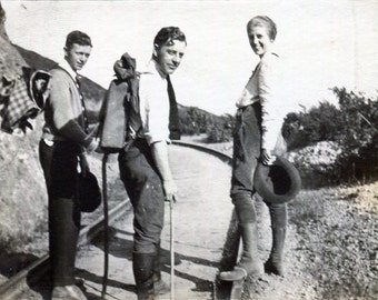 Vintage Photo..Off on Adventures 1910's, Original Photo, Old Photo Snapshot, Vernacular Photography, American Social History Photo