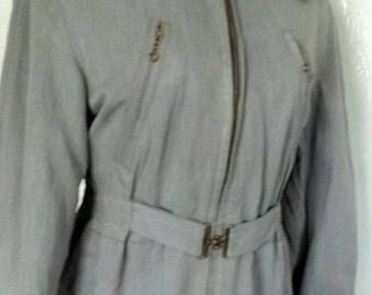 40s Lightweight vintage belted jacket