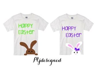Happy Easter Bunny Shirt/ Bunny Shirt/ Boy's Easter T Shirt/Girl's Easter T Shirt/ Baby's/Toddlers Easter T Shirt
