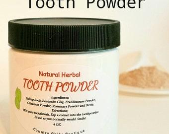 Natural Herbal Tooth Powder/ Oral Health/ Remineralizing/ Kids Safe/ 4oz
