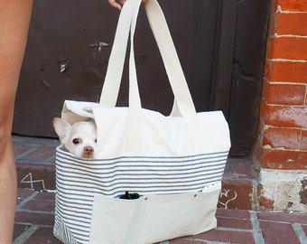 Maritime Designer City Dog Tote With Pockets - Yay!