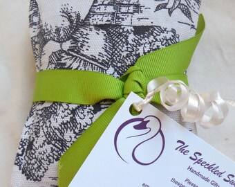 Three Lavender Rose sachets, Black and Cream Toile