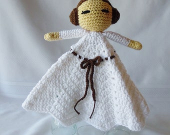 Princess Leia Inspired Lovey/Security Blanket