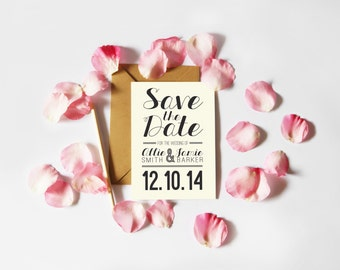 Typographic Save the Date (Printable)