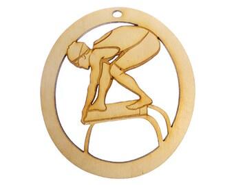 Swimming Ornament, Female - Swimming Ornaments - Swim Team Gift - Swim Team Gifts - Gift for Swimmer - Swimmer Ornament - Personalized Free