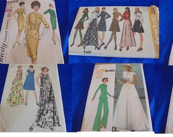 U Pick All Sz 18 1970s Sewing Patterns Dresses Minidress Maxi Muu Muu  More
