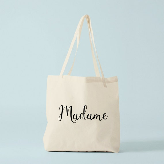 Tote Bag Madame, gift for bride, Bachelorette party, bachelorette gift, canvas bag.