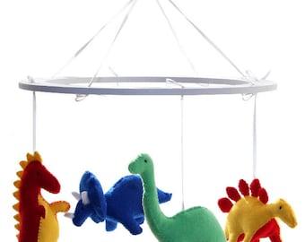 Dinosaur Mobile - Felt Dinosaur Nursery Mobile