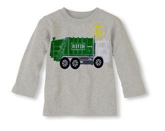 Garbage Truck Birthday  T-Shirt,Garbage truck shirt, garbage truck birthday invites, garbage truck party, trash truck birthday, trash truck