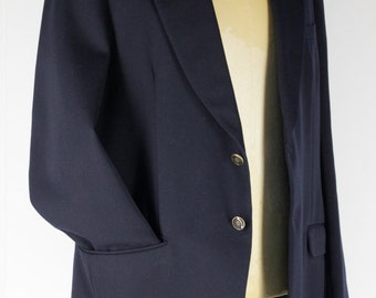 navy blue jacket Size M / L