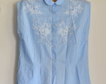 Embroidered blouse 1950 French