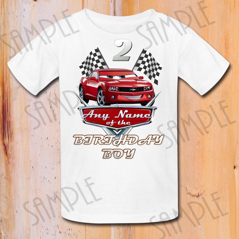 T Shirt Disney Cars Diy Custom Iron On Transfer Printable Any