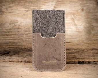 """iPhone 7, 6s, 6, 7 Plus, 6s Plus, 6 Plus SE – felt leather sleeve, case """"Smartwerk"""", tailor-made case for your iPhone by werktat"""
