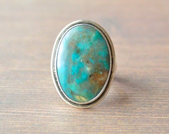 Chrysocolla Palette Ring