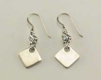 Sterling Silver Spinel Earrings