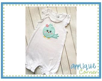 Personalized Spring Bird Applique Shirt or Onesie Girl or Boy