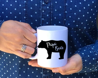 Papa Bear Mug // Papa Bear // Gift for Dad // Gift for Grandpa // Father of the Bride Gift //Father of the Groom Gift // Bear Mugs // Coffee