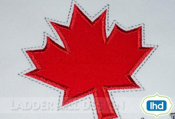 Canada maple leaf machine embroidery design by