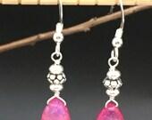 Pink Rainbow Moonstone Earrings, Pink Stone earrings, gemstone earrings, Moonstone earrings, Angel Wear Designs, Earrings under 25