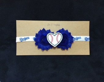 LA Dodgers Baseball Inspired Headband - Los Angeles Dodgers Baby Girl - L.A. Dodgers Baby Gift - Dodgers Baby, Dodgers Baby Shower