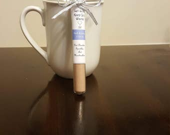 NEW:  Set of 10 Hot Chocolate Tube Wedding or Party Favors /Apple Cider Tube Favors- 10 Tubes