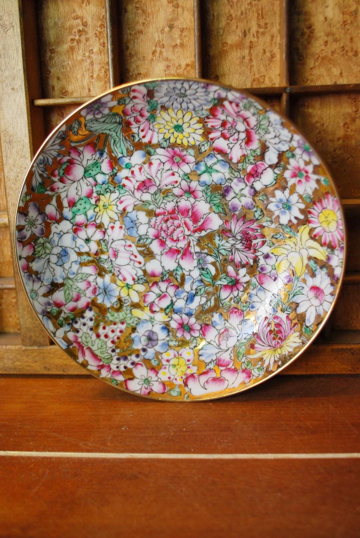 Vintage Japanese Chinese Millefleur Bowl Porcelain Ware Acf