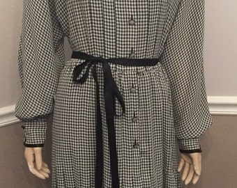 Adele Simpson Houndstooth dress / size 12