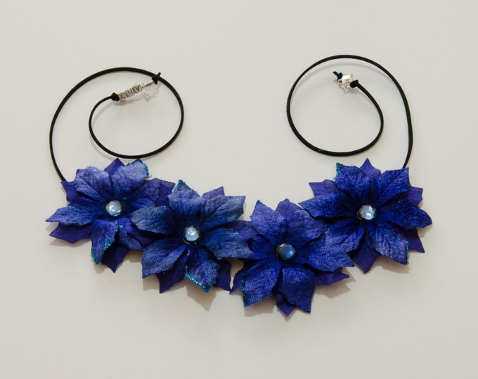 Blue Poinsettia Flower Crown