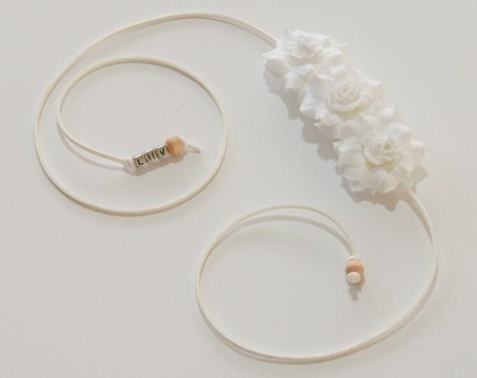 White Rose Side Flower Crown