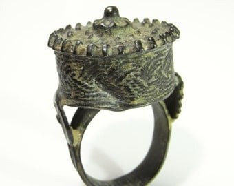 Pre Georgian Ring Ancient Ring Byzantine Jewelry Byzantine Ring Medieval Jewelry Bronze Ring Tudor Jewelry Renaissance Jewelry Unique R1631