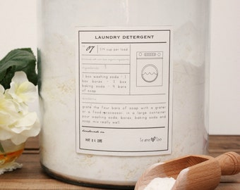 Natural Laundry Detergent, Cleaning Label, DIY Recipe, Laundry Decor, Non Toxic, Spring Cleaning, Organic Laundry Print, Printable Sign