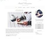 Premade Blogger Template - Watercolor Floral Blog Design - Blog Theme - Blog Layout - Blogspot Template
