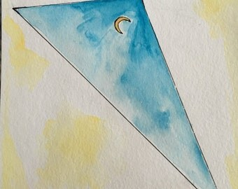 triangle moon greeting cards, set of 8