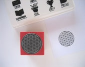 L Size (Large). FLOWER OF LIFE Rubber stamp. Sacred Geometry Rubber Stamp.