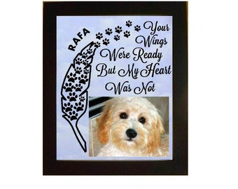 Personalized Pet MEMORIAL Frame, In Memory Frame, Pet Loss Frame, Dog Remembrance Frame, Pet Loss Picture Frame, Dog Memorial Frame