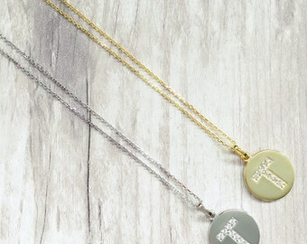 FLASH SALE T Initial Necklace,Initial Necklace,Initial Jewellery,Personalised necklace,Bridesmaid Gift,Name necklace,Monogram Necklace