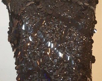 FREE  SHIPPING   Vintage  Rayon Sequin Blouse