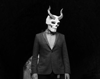 Horned Skull Mask- Build your own costume for Halloween