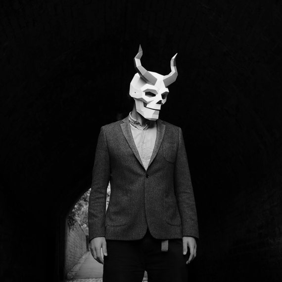 Wintercroft Horned Skull Mask- Build your own costume for Halloween
