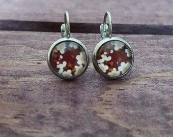 Drop Earrings - Vintage Flower - Stainless Steel - 10mm