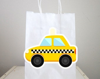 Taxi Goody Bags, Taxi Favor Bags, Taxi Gift Bags, Car Birthday, Car Party Bags, Transportation Goody Bags