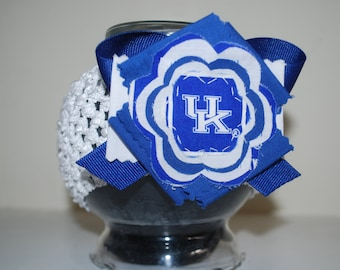 University of Kentucky Fabric Flower Headband for Baby