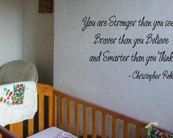 You are braver than you think famous wall quote wall art home decor sticker vinyl decal children bedroom family living inspire playroom