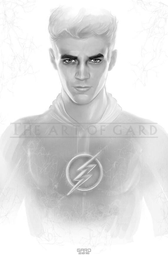The Flash / Grant Gustin (11X17 Art Print)