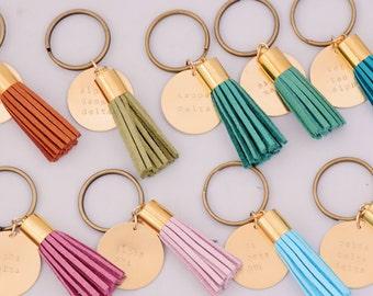 Sorority Keychain, Personalized Sorority Key Chain, Sorority Tassel Keychains, Big Little Keychain