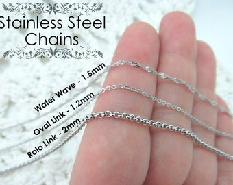 Stainless Steel Chain Necklace - Dainty Small