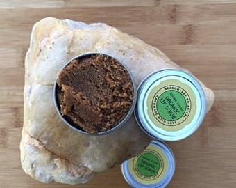Vegan Lip Scrub w. Brown Sugar and Natural Vanilla | Organic Lip Polish  1.5oz + 2.5oz